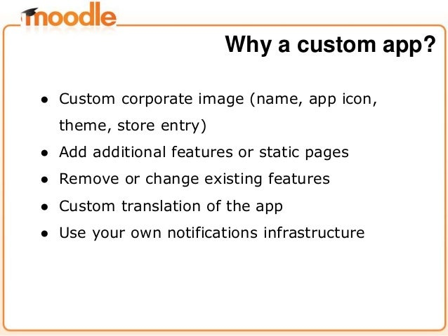 ● Custom corporate image (name, app icon, theme, store entry) ● Add additional features or static pages ● Remove or change...
