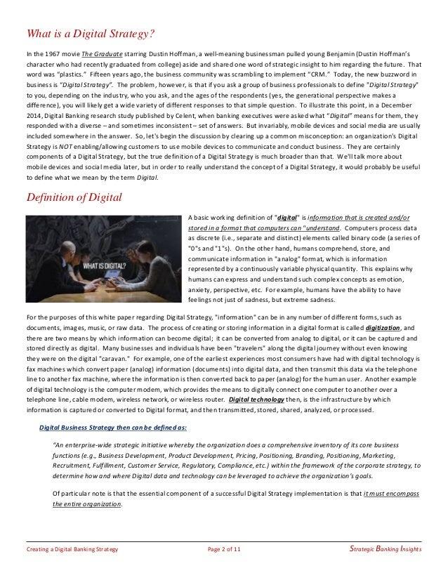 Creating a Digital Banking Strategy - 01.23.15