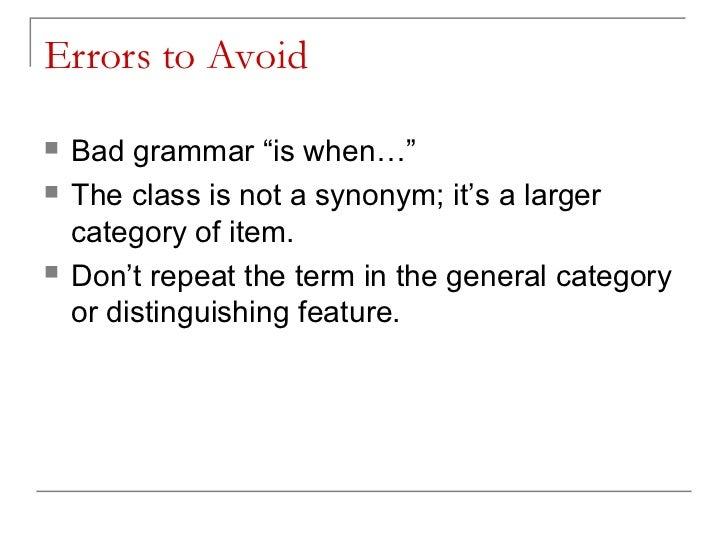 general sentence definition