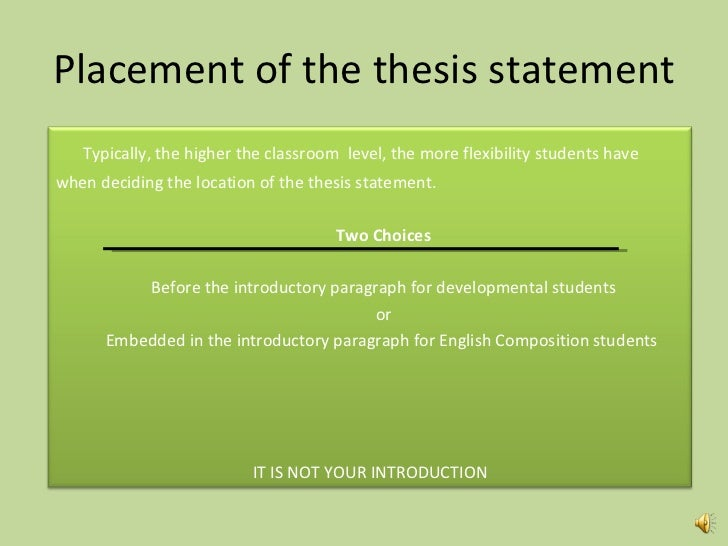 thesis statement outline