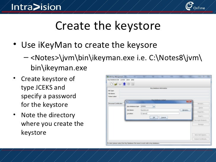 Creating a keystore for plugin signing the easy way Slide 2