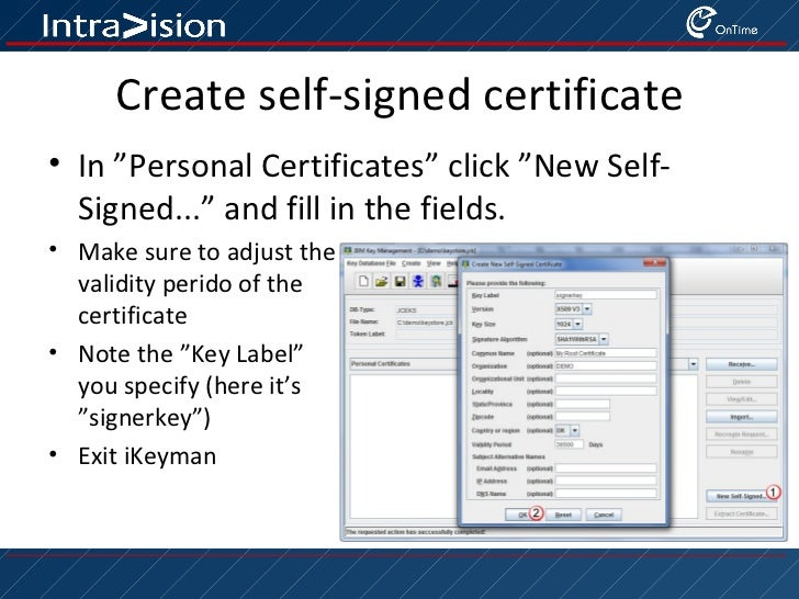 Creating a keystore for plugin signing the easy way Slide 3