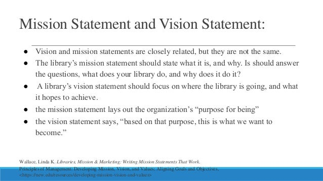 """recommendation of revised vision mission statement marketing essay Read this essay on educational mission statement paper come browse our large digital warehouse of free sample essays  revised mission statement: """" salvation ."""