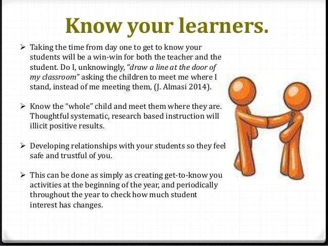 know your learner Questions to understand their grasp of technology  what is the comfort level of your target audience when it comes to using technology unless you know their knowledge and practical experience in using technology, all those interactive lessons (and lesson activities, eg social based) may go to waste.