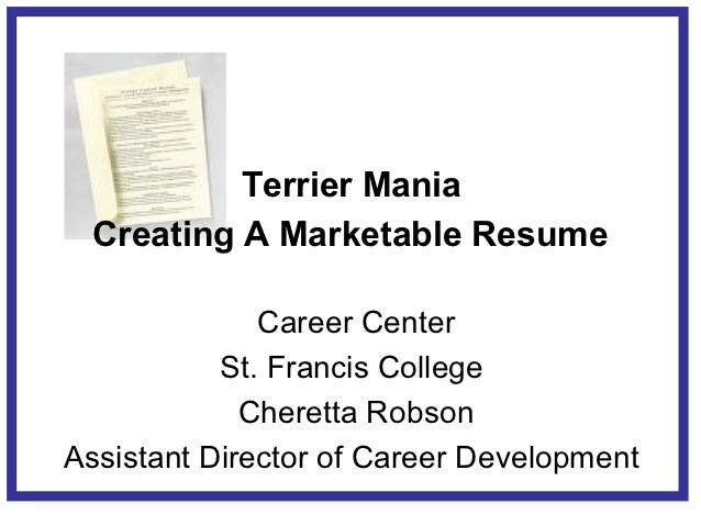 17 terrier mania creating a marketable resume