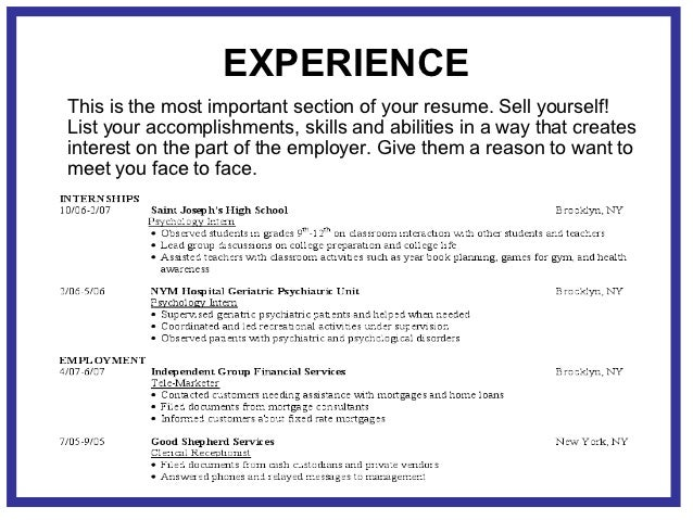 Marketable resume