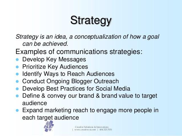 Writing a marketing strategy