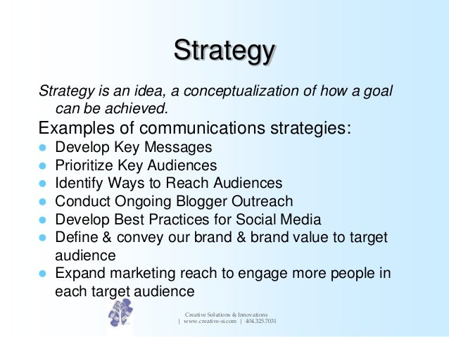 Developing a communications strategy