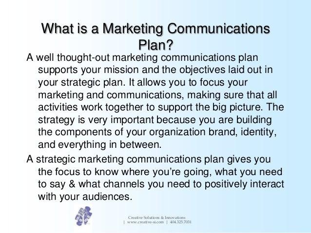 Creating a marketing communications plan