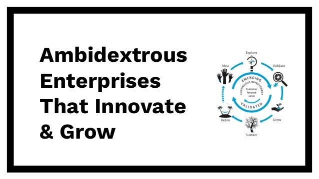 Ambidextrous Enterprises That Innovate & Grow