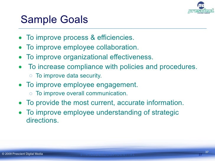 Creating a measurable intranet strategy sample goals pronofoot35fo Image collections