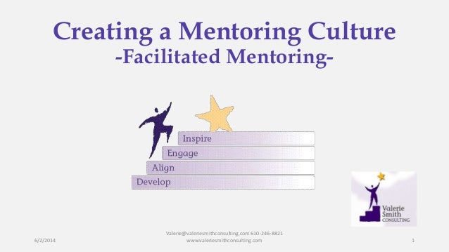 Creating a Mentoring Culture -Facilitated Mentoring- 6/2/2014 Valerie@valeriesmithconsulting.com 610-246-8821 www.valeries...
