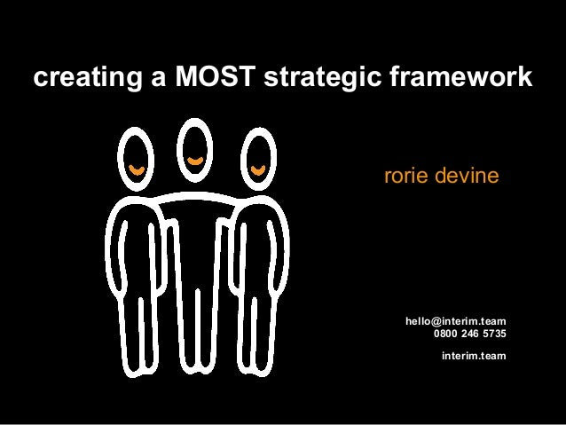 interim.team creating a MOST strategic framework rorie devine hello@interim.team 0800 246 5735