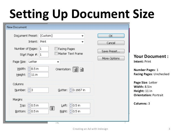 Creating an Magazine ad with Adobe InDesign