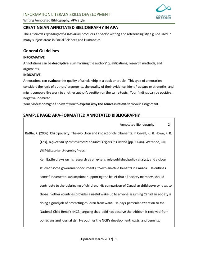 "annotated bibliography apa 6th ed Annotated bibliography example guide answers ""what is an annotated  bibliography  citation machine has an apa format citation guide and other  helpful tools  citation machine™ uses the 8th ed of mla, 6th ed of apa, and  17th ed of."