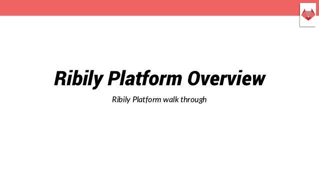 Ribily Platform Overview Ribily Platform walk through