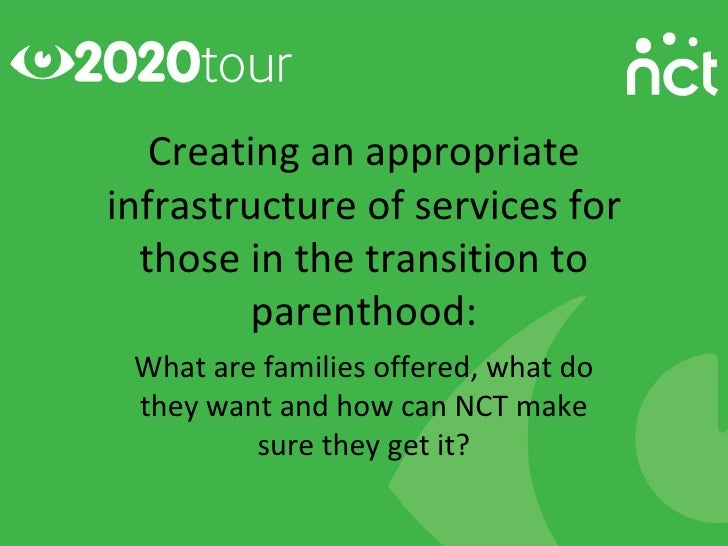 Creating an appropriateinfrastructure of services for  those in the transition to         parenthood: What are families of...