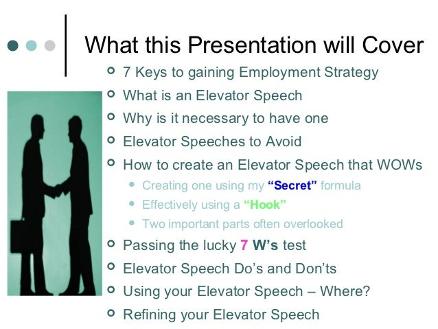 Creating An Elevator Speech That WowS