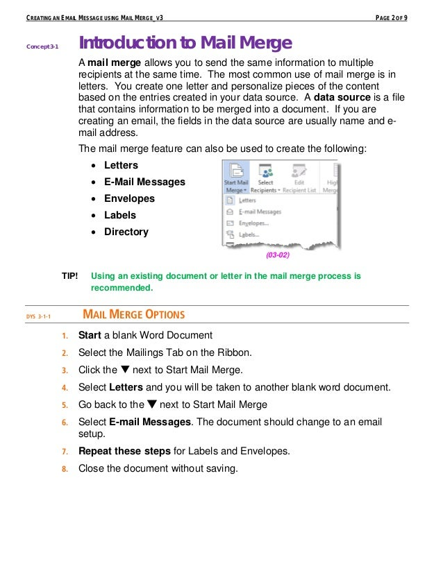 Creating an email message using mail merge parent letter 2 creating an email message using mail stopboris Choice Image