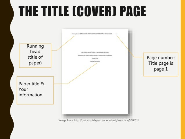 How To Write a Title Page in APA Format  Custom Made Essays with Free Cover Page