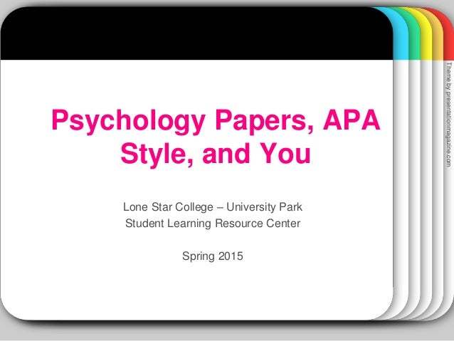 psychology essay apa style Psychology with style: a hypertext writing guide provides a summary of how to write scientific papers using the format of the american psychological association.