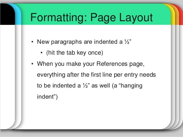 apa format page layout
