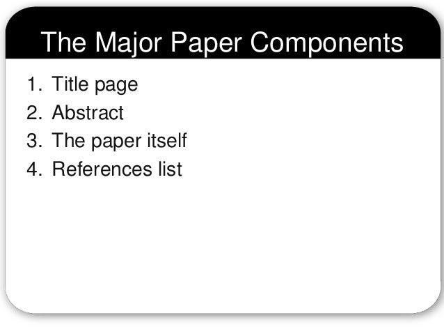 apa format psychology paper