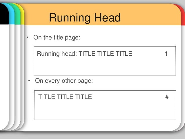 running head apa style research paper Quick answers—formatting running head from the apa style blog: mysteries of the running head explained running head format for apa style papers.
