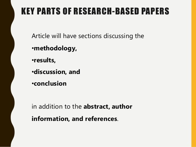 discussion in research papers As you become more skilled writing research papers, you may want to meld the results of your study with a discussion of its implications driscoll, dana lynn and aleksandra kasztalska writing the experimental report: methods, results, and discussion.