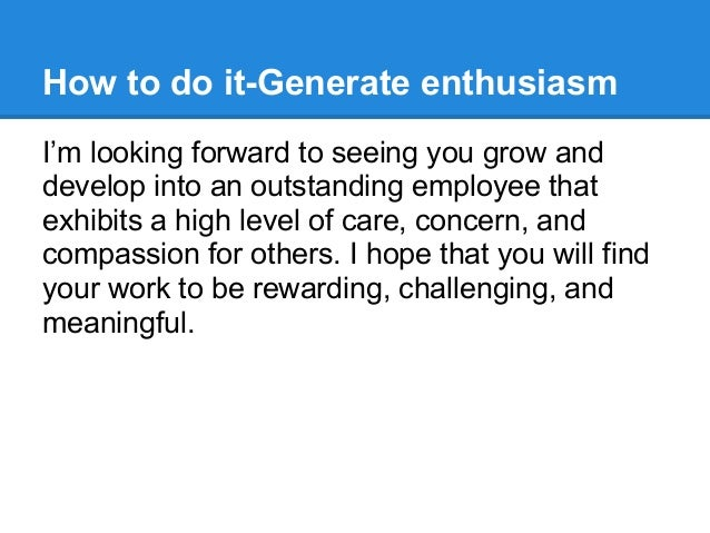 create a new hire welcome message to inspire enthusiasm and drive eng