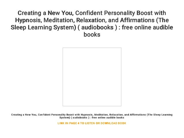 Creating a New You    Confident Personality Boost with Hypnosis    Me…