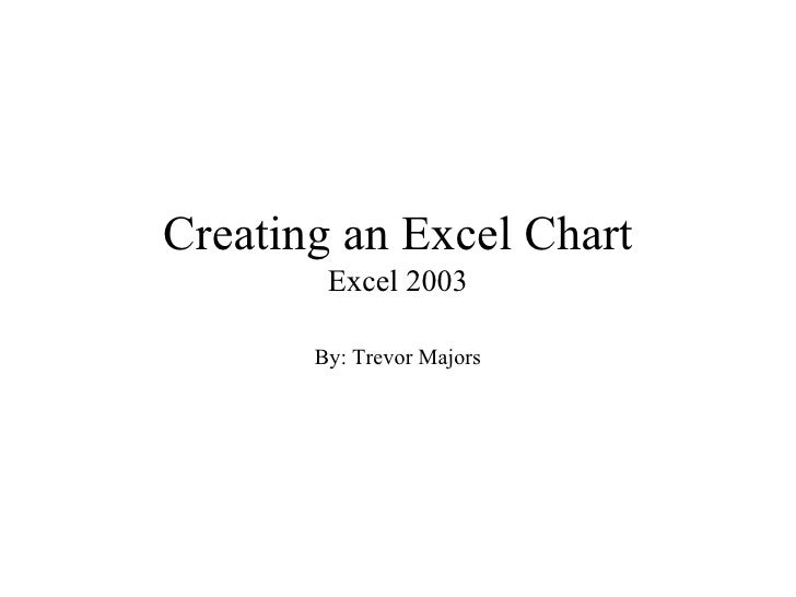 Creating an Excel Chart        Excel 2003       By: Trevor Majors