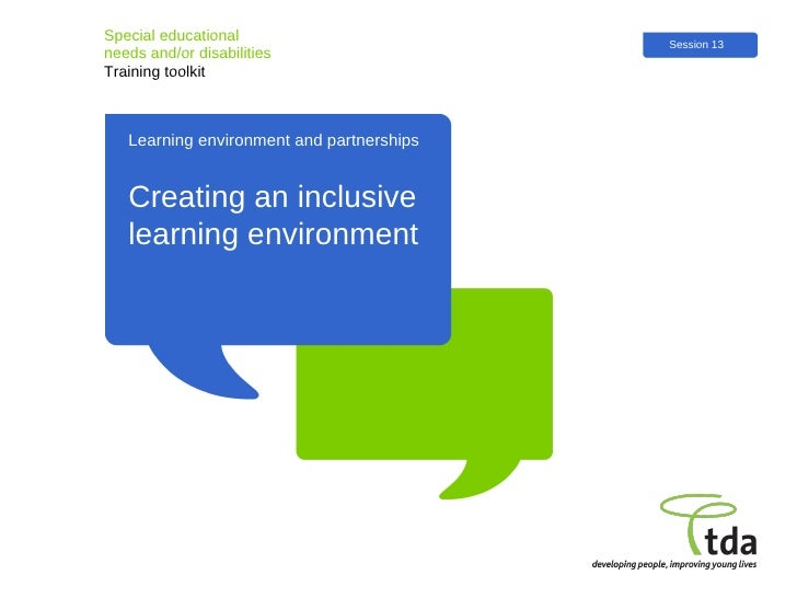 creating an inclusive learning environment session thirteen