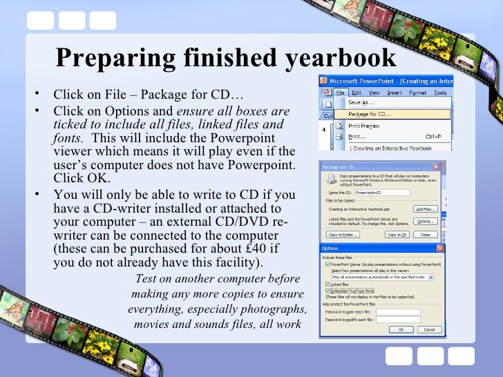 creating an interactive yearbook, Powerpoint templates