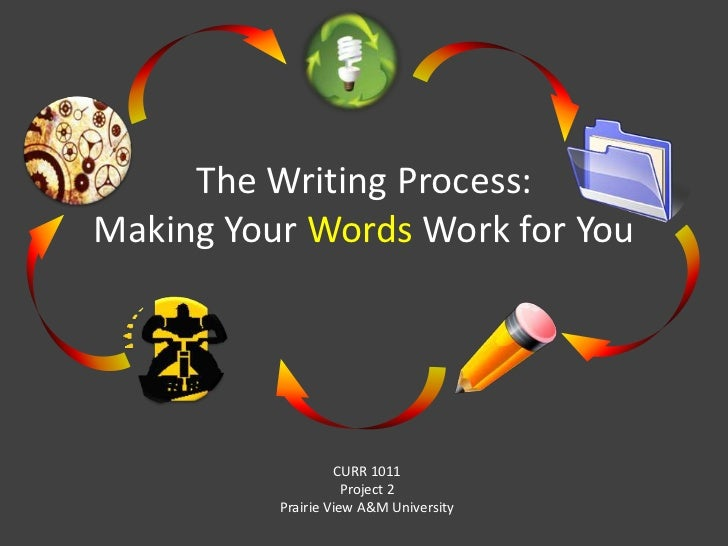The Writing Process: Making Your Words Work for You<br />CURR 1011<br />Project 2<br />Prairie View A&M University<br />