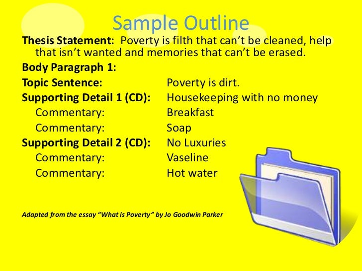 Poverty essay topics