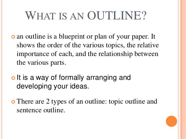 What is the outline of an essay