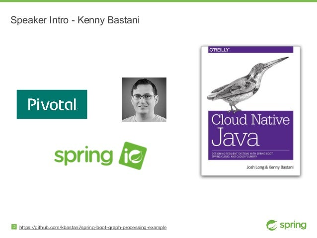 https://github.com/kbastani/spring-boot-graph-processing-example Speaker Intro - Kenny Bastani 2