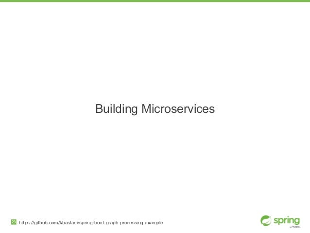 Building Microservices 23 https://github.com/kbastani/spring-boot-graph-processing-example