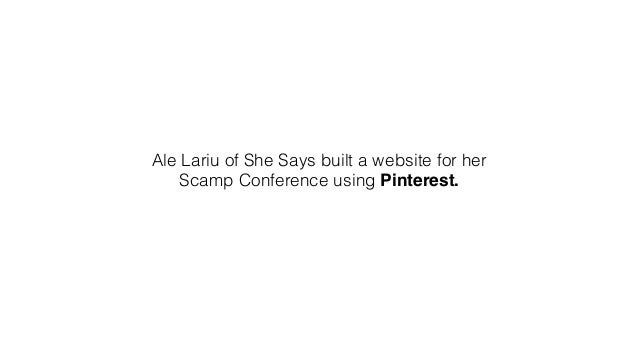 The speakers on the main page is just another Pinterest page pinned.