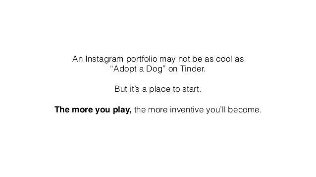 Creating a portfolio on instagram