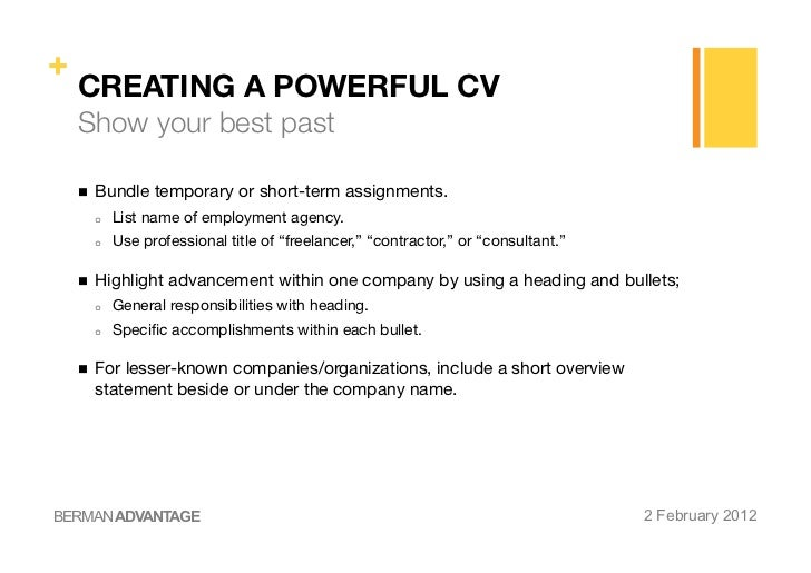 creating a powerful cv cover letter