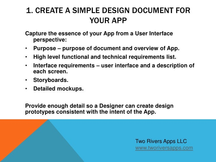 Creating Apple Apps Part Four Creating A Simple Design Document - Creating a design document
