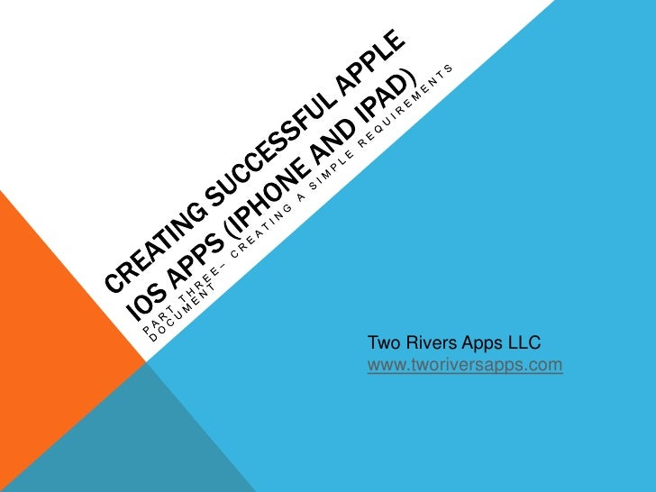 ... Apple Apps - Part Three - Creating a Simple Requirements Document