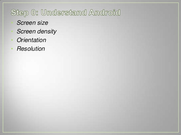 Creating apps that work on all screen sizes Slide 3
