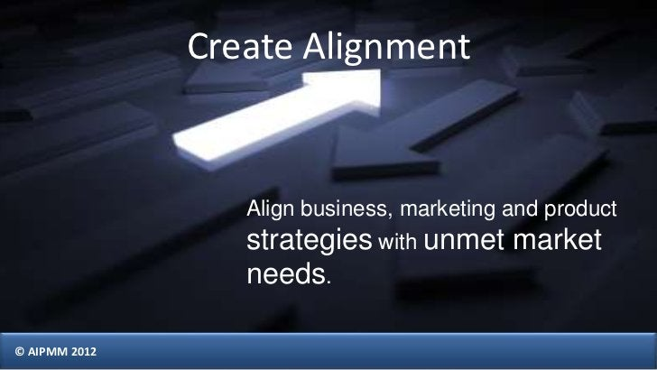 Create Alignment                  Align business, marketing and product                  strategies with unmet market     ...