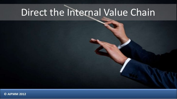 Direct the Internal Value Chain© AIPMM 2012