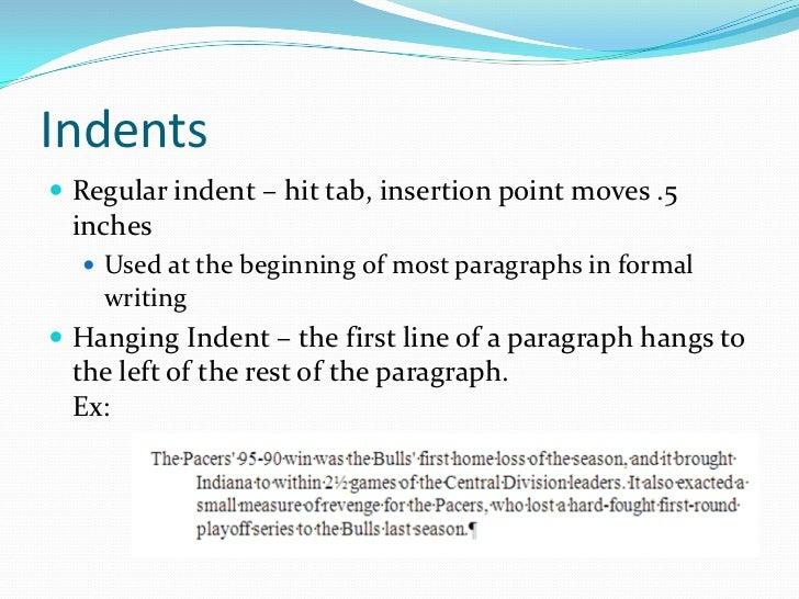 indent paragraphs college essays