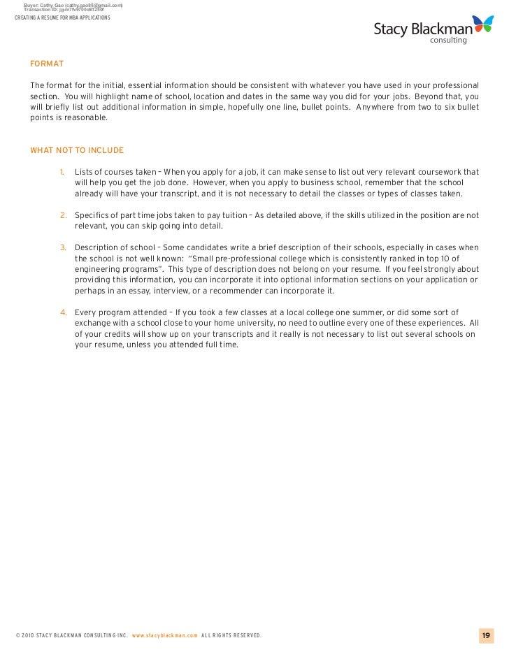 help creating a resume