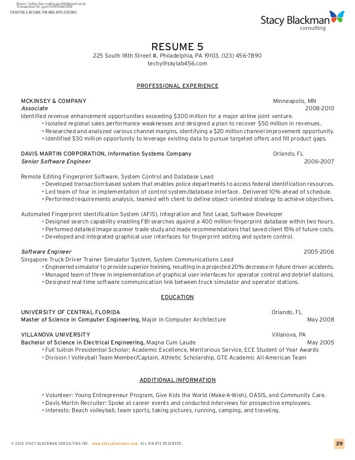Sample Resume Objective For Mba Application Tina Shawal Photography  Template Sample Resume For Mba Application  Mba Resume Sample